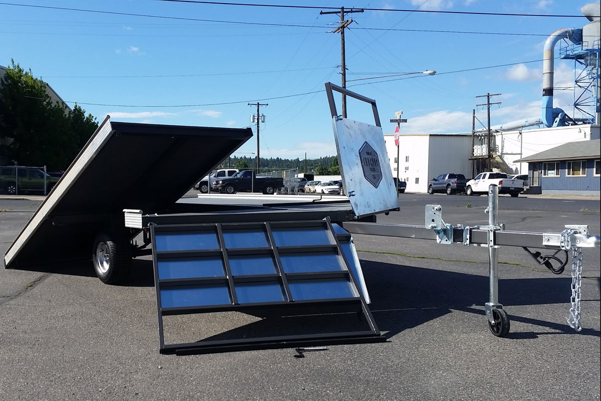 Snowmobile And Bacpac Tracpac Trailers